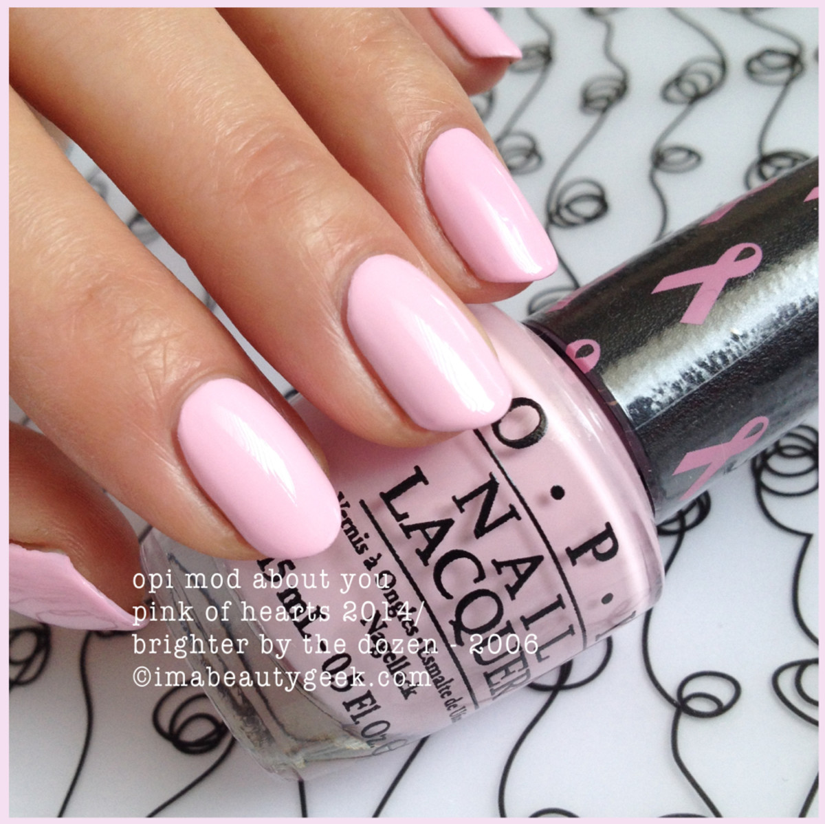 OPI Mod About You Pink of Hearts 2014 BCA