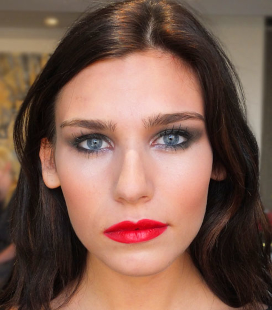 YSL Fall 2012 makeup look_model Andrea Deluca_Ford_2