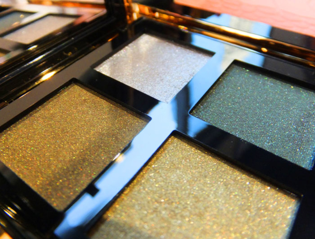 YSL Pure Chromatics 4 Wet & Dry Eye Shadows in 10_Fall 2012 makeup