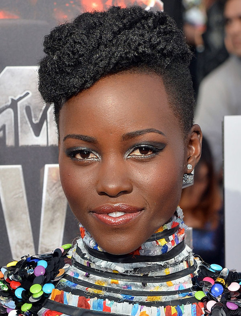 Lupita Nyong'o makeup 2014 MTV Movie Awards