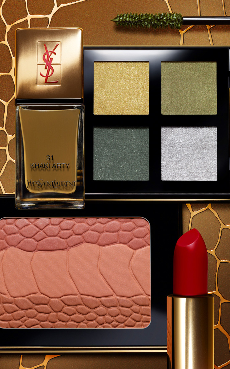 YSL Fall 2012 star makeup and nail colour