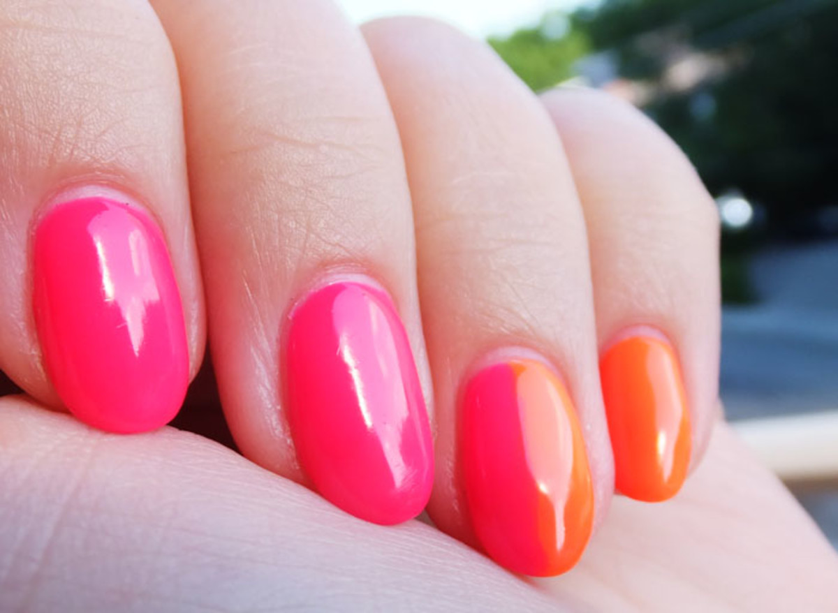 Ombre gel manicure by Leeanne Colley, Tips Nail Bar