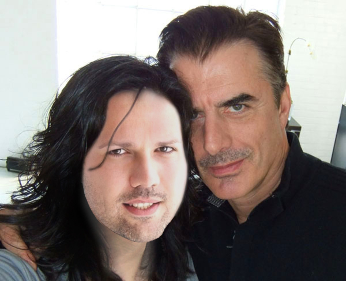 Marko and my hair with Chris Noth