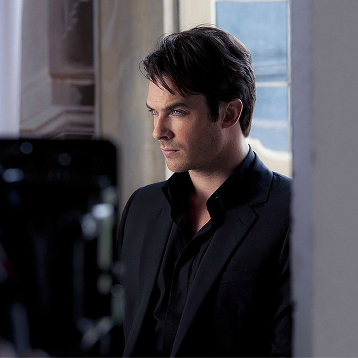 Ian Somerhalder on the set of the Azzaro Pour Homme shoot