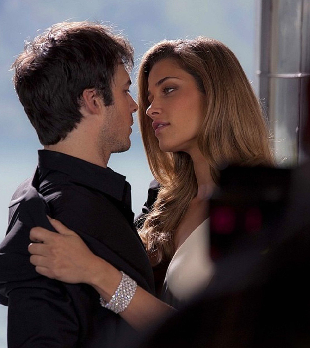 Ian Somerhalder and Ana Beatriz Barros on the set of the Azzaro Pour Homme campaign shoot