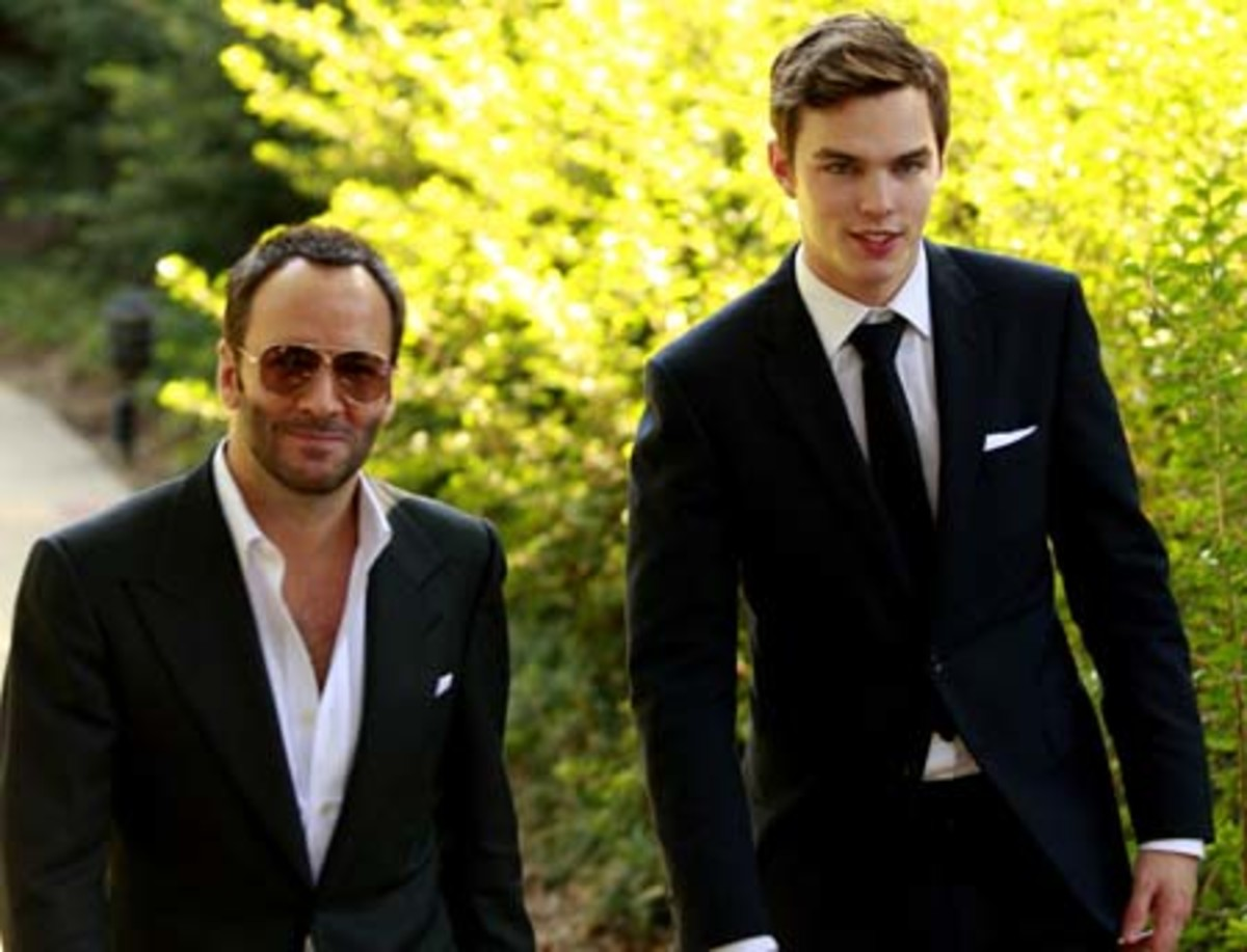Tom Ford and Nicholas Hoult