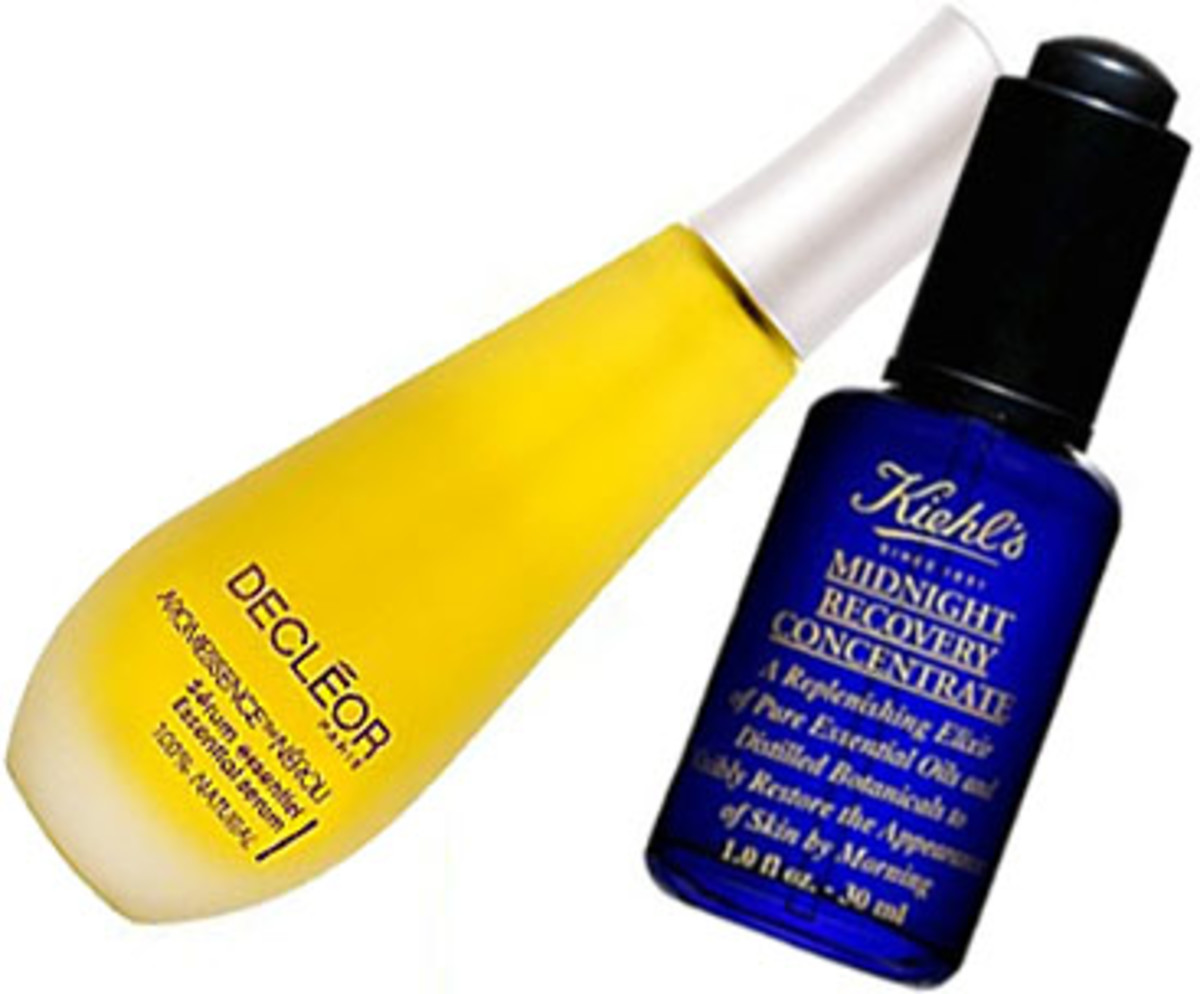 Decleor-Aromessence-Neroli_Kiehls Midnight Recovery Concentrate