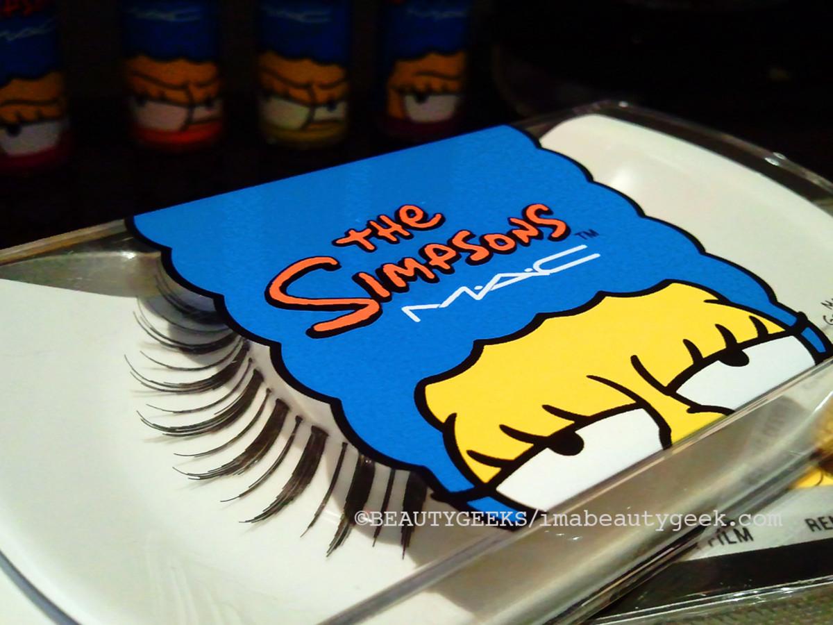 MAC Simpsons makeup false lashes