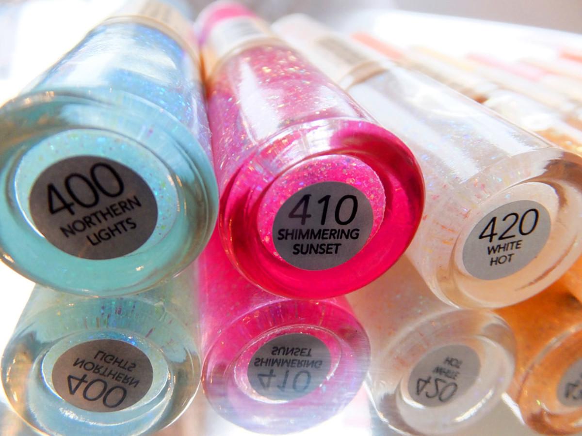 Revlon Nail Art Sun Candy_400 Northern Lights_410 Shimmering Sunset_420 White Hot