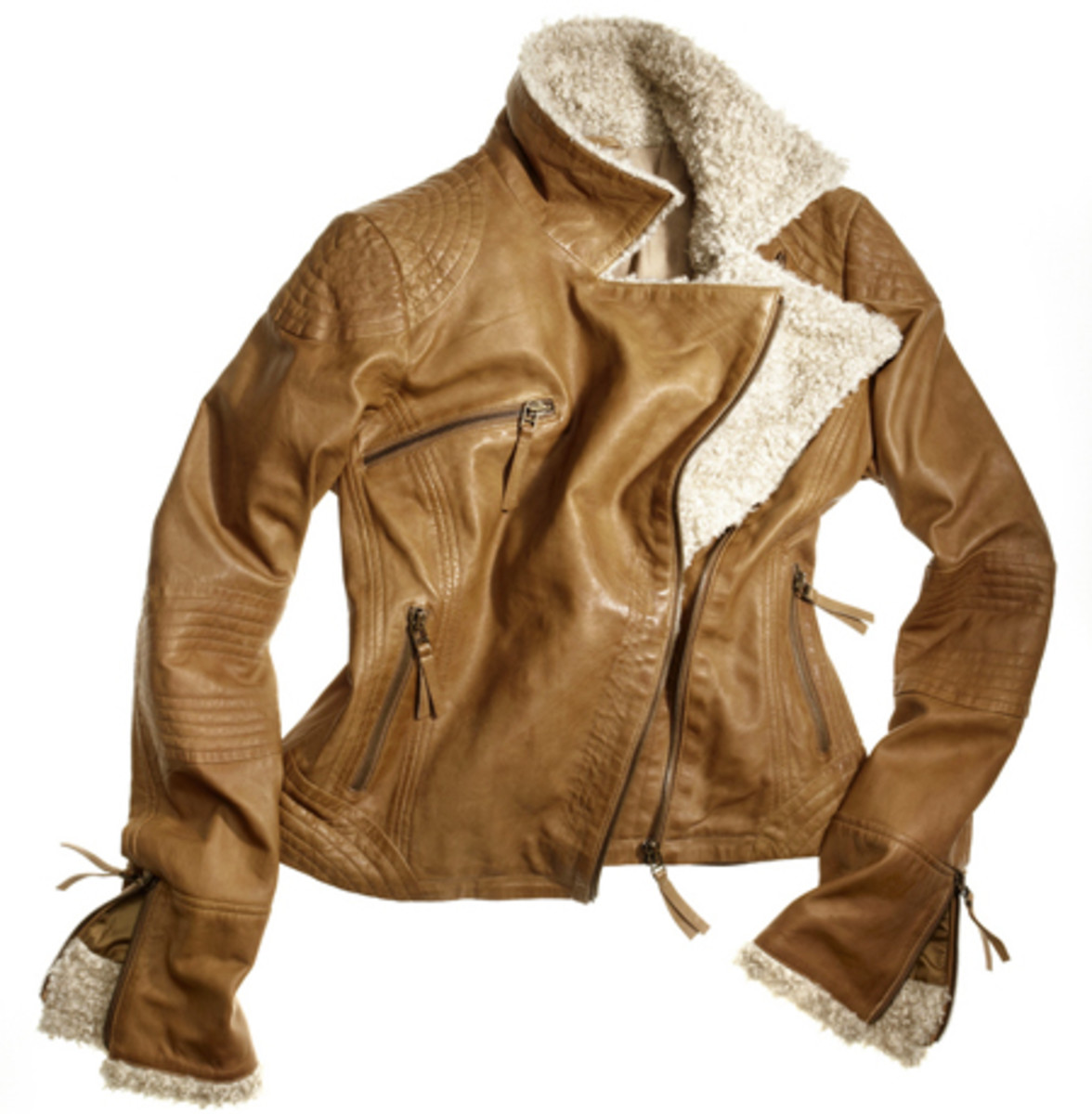 Danier shearling leather jacket_Fall 2011