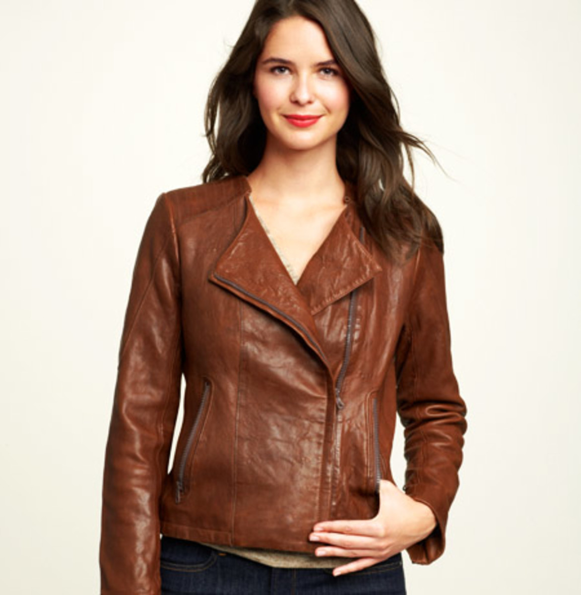 Gap $328 Textural leather jacket