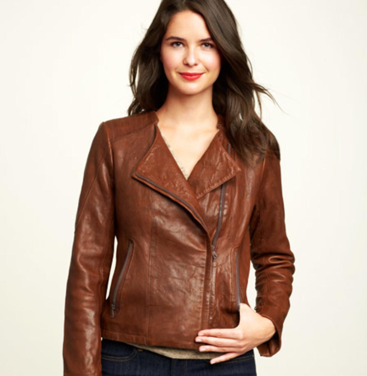 Gap $328 Textural leather jacket