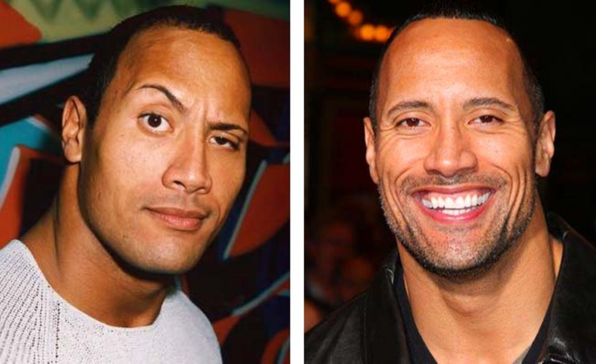 DwayneJohnsonBrowsThen&Now