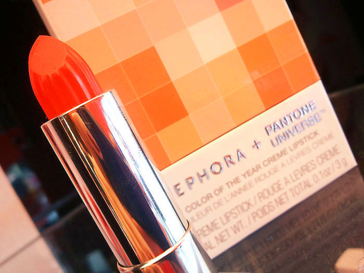 Sephora + Pantone Universe Color of the Year Tangerine Tango Cream Lipstick
