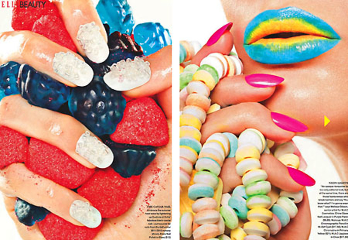 Nails by Leeanne Colley for Elle Canada Magazine