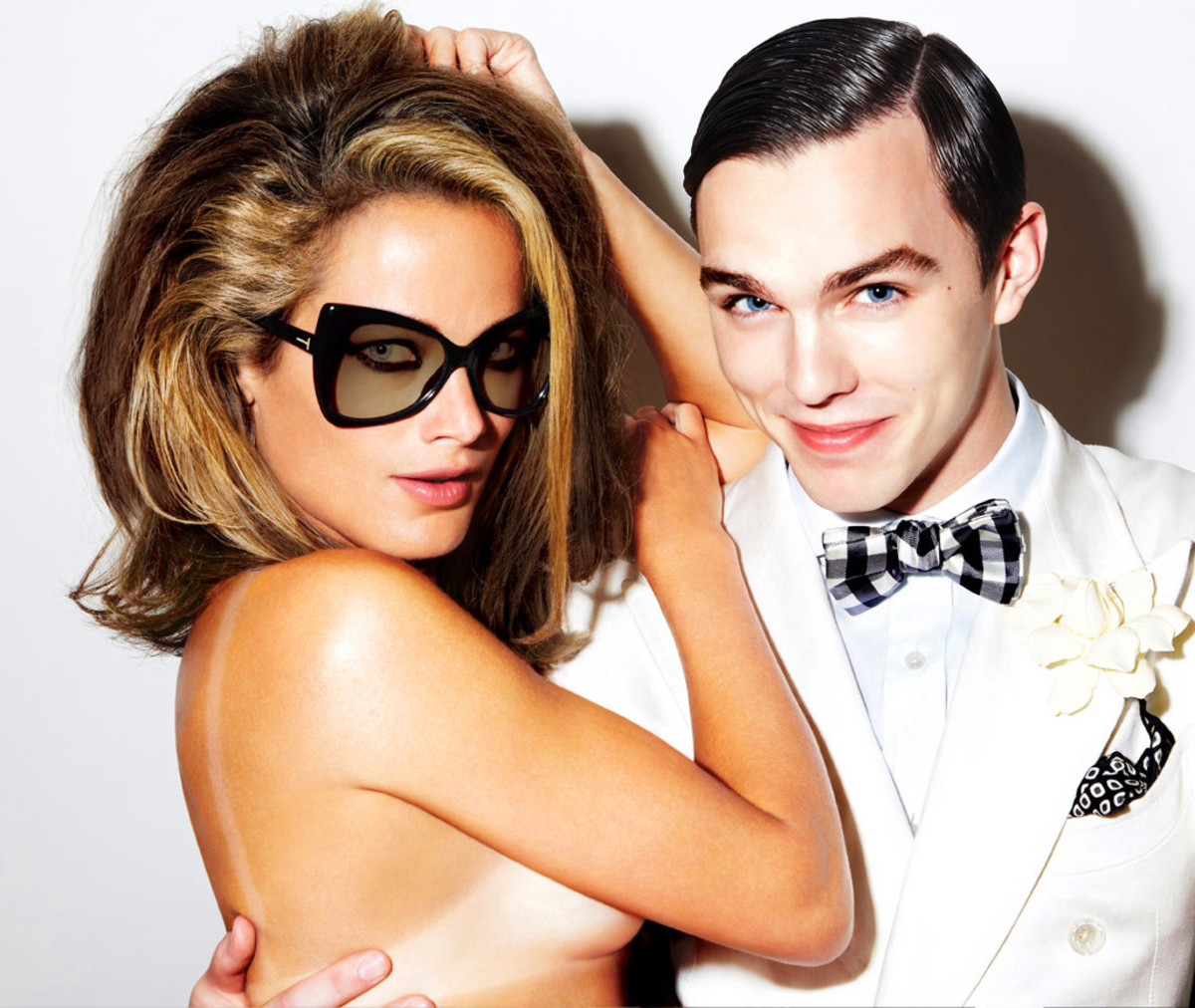 Carolyn Murphy and Nicholas Hoult for Tom Ford eyewear of course.