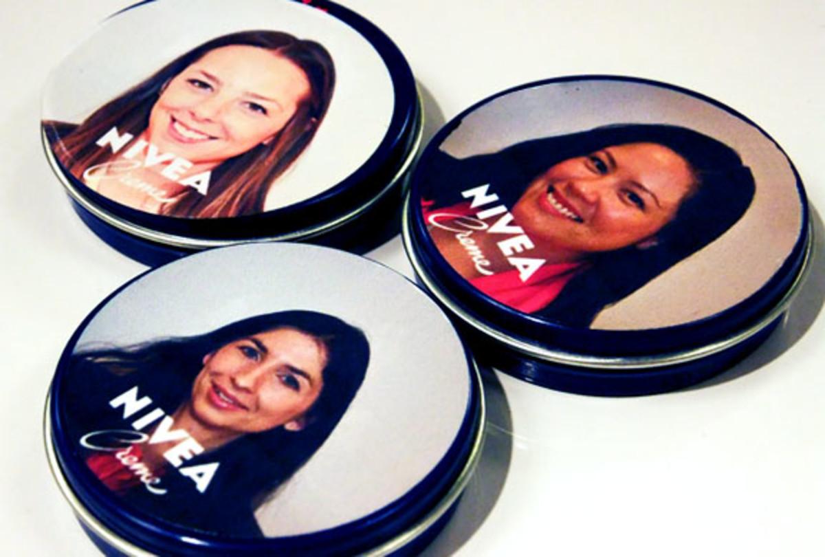 personalized Nivea tins