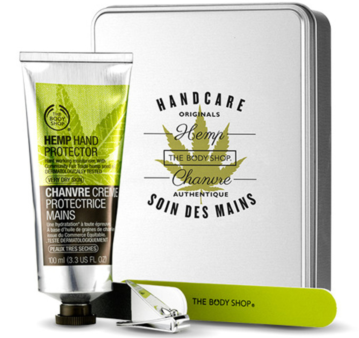 Hand Cream Gift Guide_The Body Shop Hemp Handy Manicure Nail Gift Set