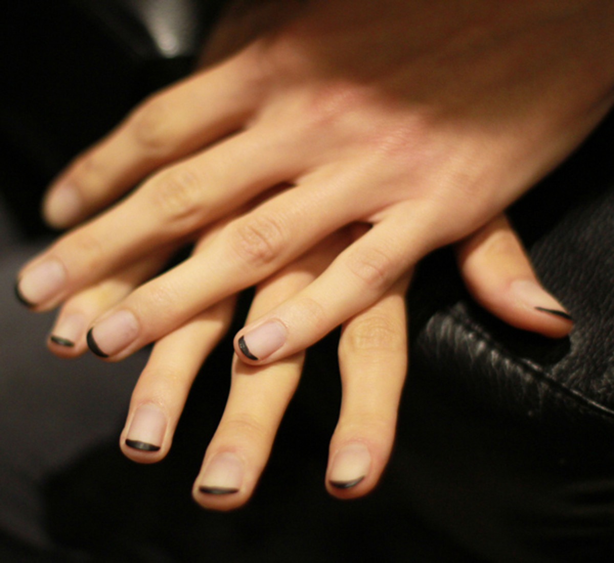 Toronto Fashion Week: Which Dark-Tip French Manicure Do You Like ...