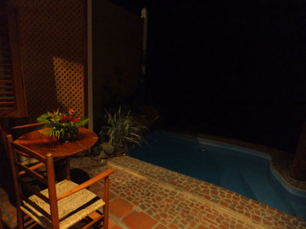Ladera_St. Lucia_view of the room's little pool