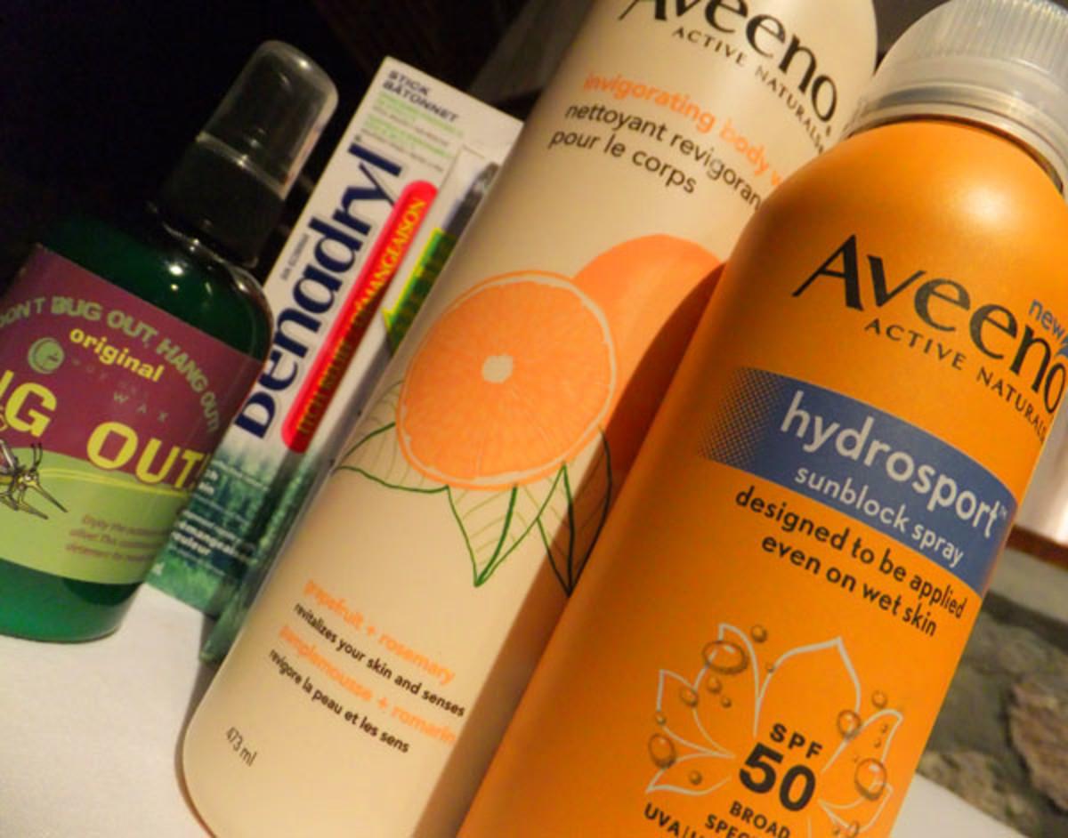 Aveeno Active Naturals Invigorating Body Wash in Grapefruit + Rosemary_Aveeno Hydrosport Sunblock Spray SPF 50