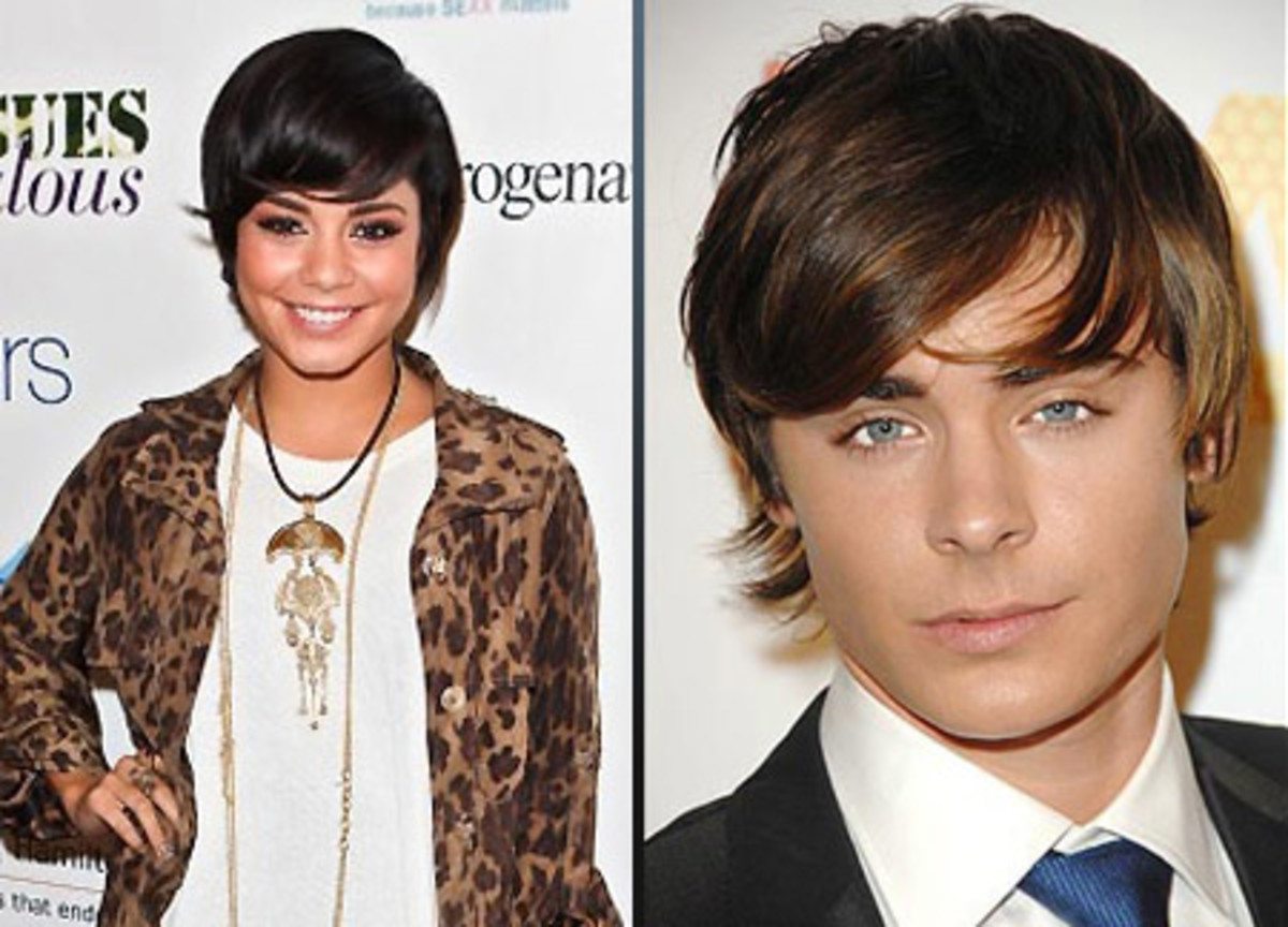 Vanessa Hudgens with Zac Efron hair