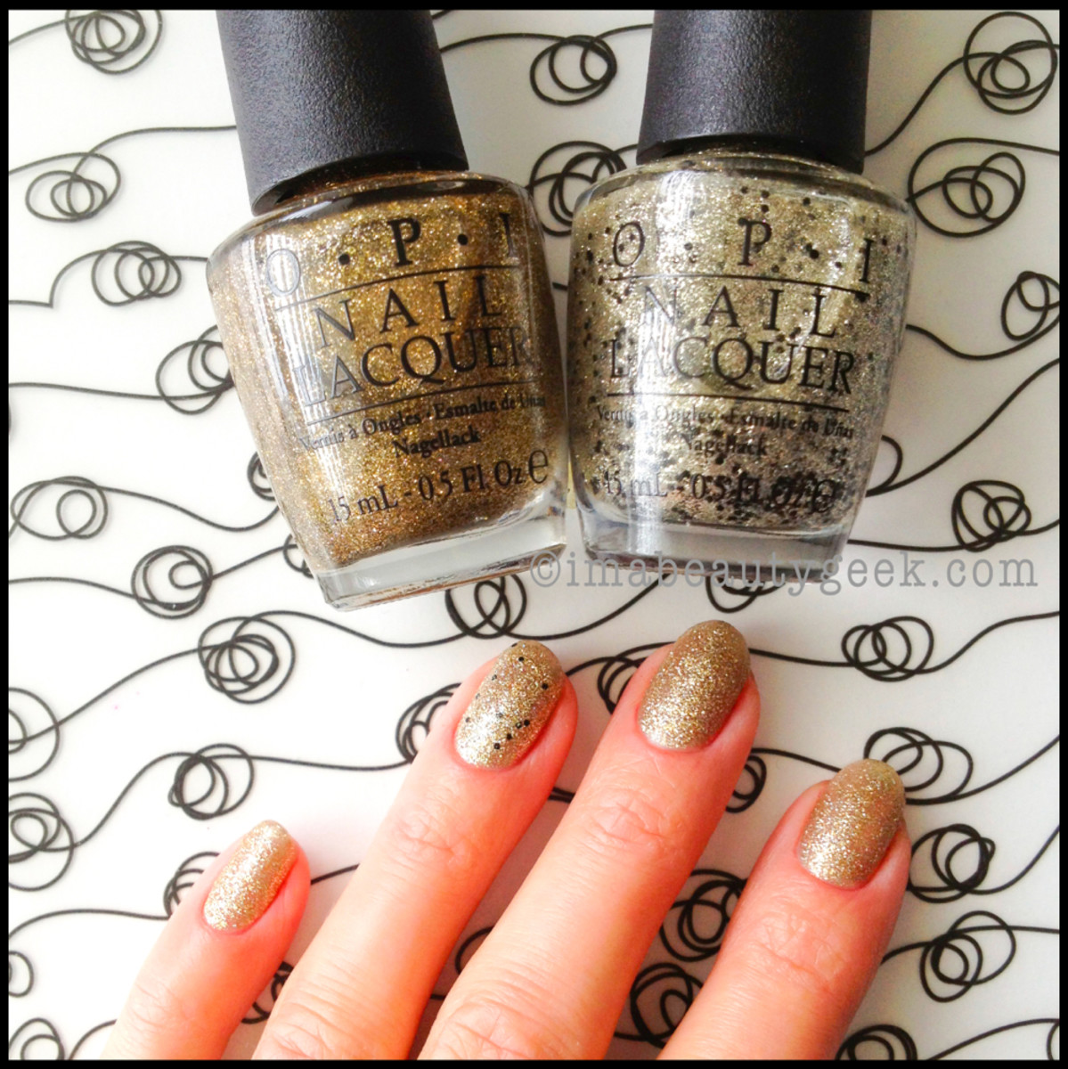 OPI All Sparkly and Gold with Wondrous Star Holiday 2013