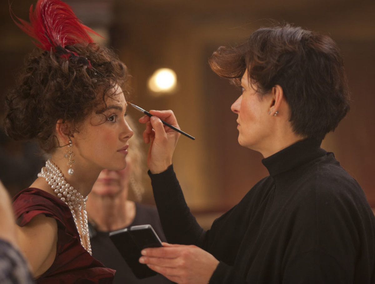 Keira Knightley's brow extensions_Anna Karenina makeup designer Ivana Primorac on set with Keira
