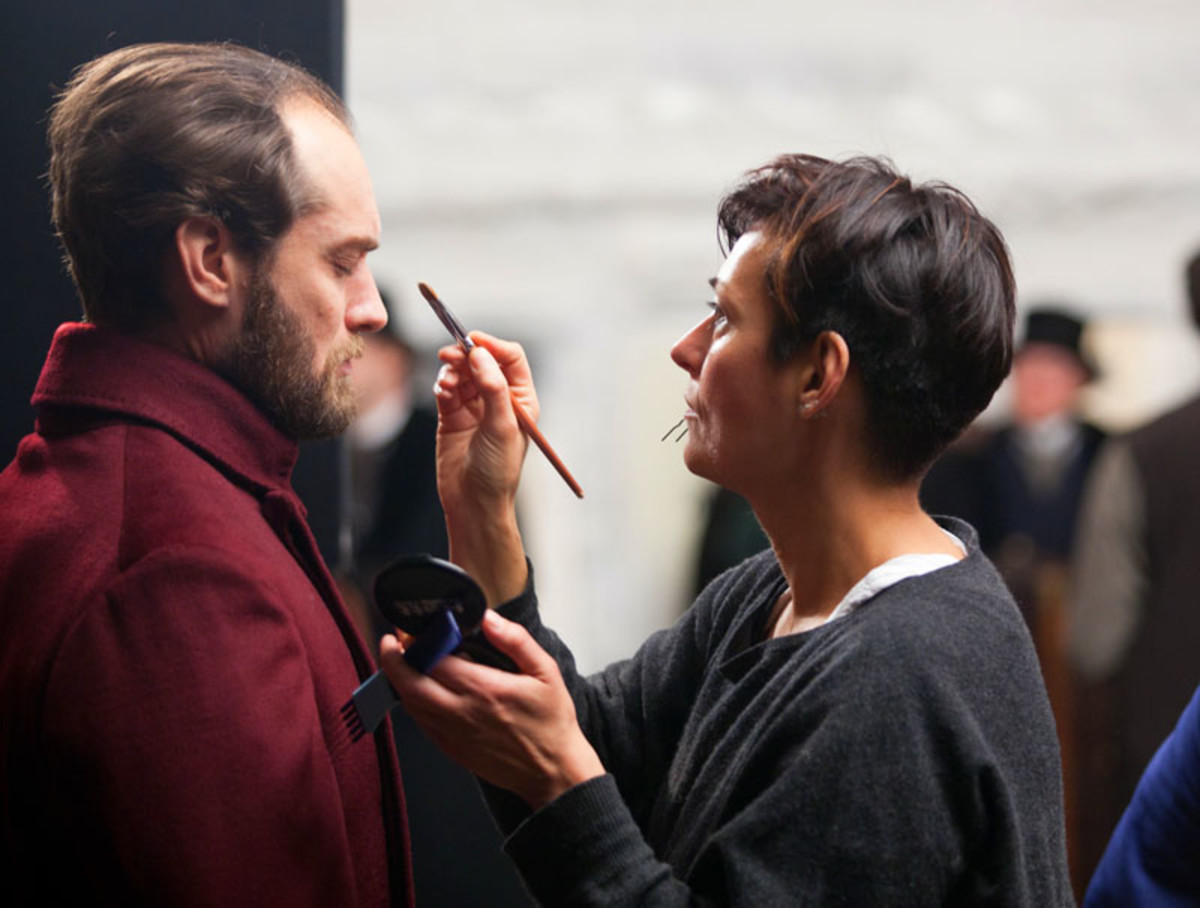 KEIRA KNIGHTLEY'S BROW EXTENSIONS_Anna Karenina makeup designer Ivana Primorac on set with Jude Law