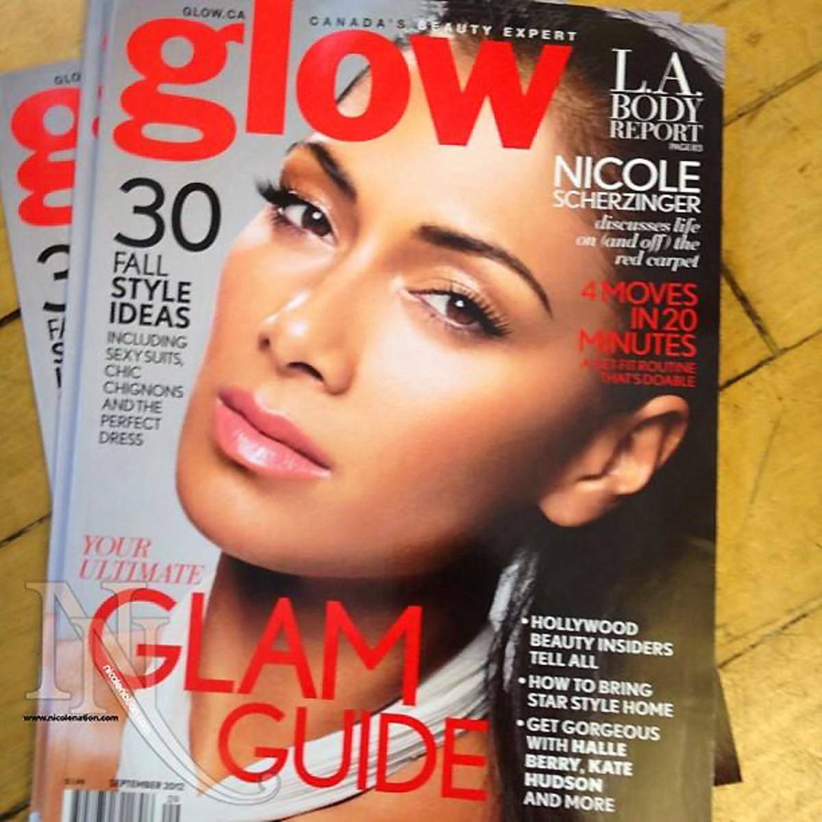 Glow Magazine Nicole Scherzinger cover_September 2012