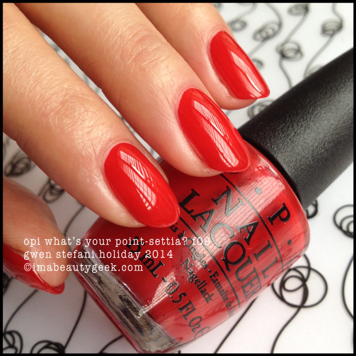 OPI What's Your Point-setta Gwen Stefani Holiday 2014