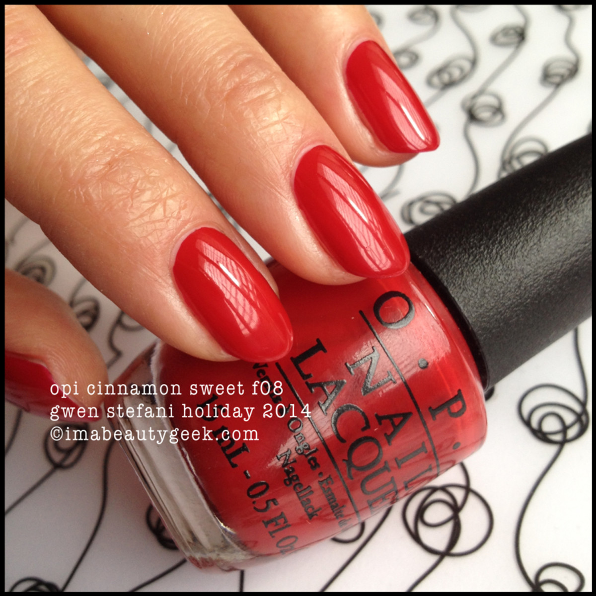 OPI Cinnamon Sweet f08 Gwen Stefani Holiday 2014