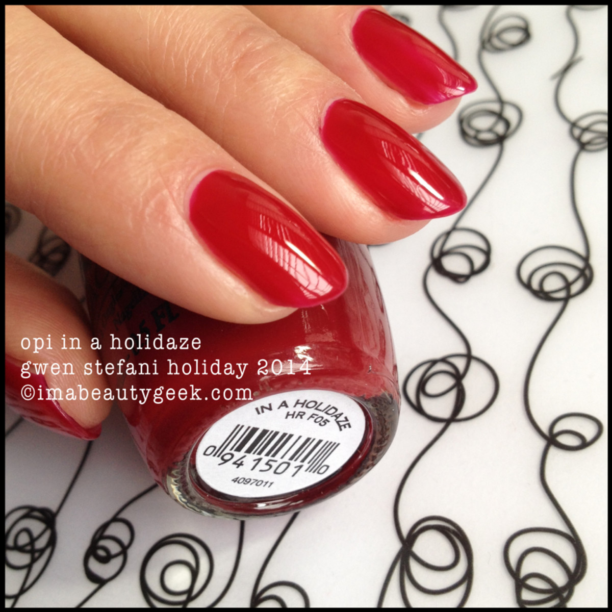 OPI In a Holidaze Gwen Stefani Holiday 2014