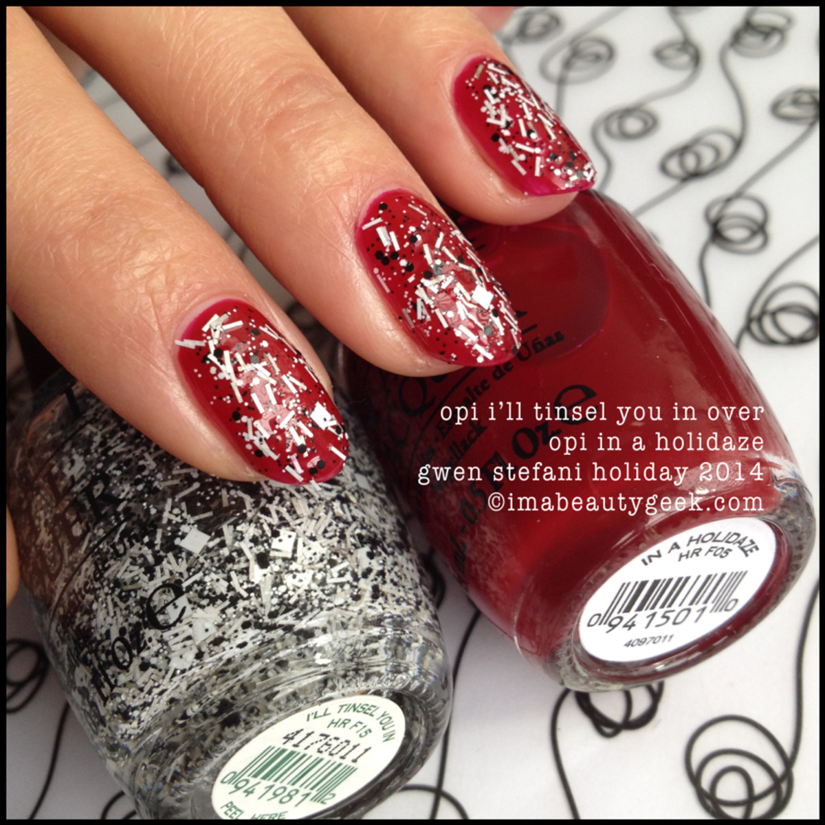 OPI I'll Tinsel You In over OPI In a Holidaze_Gwen Stefani Holiday 2014