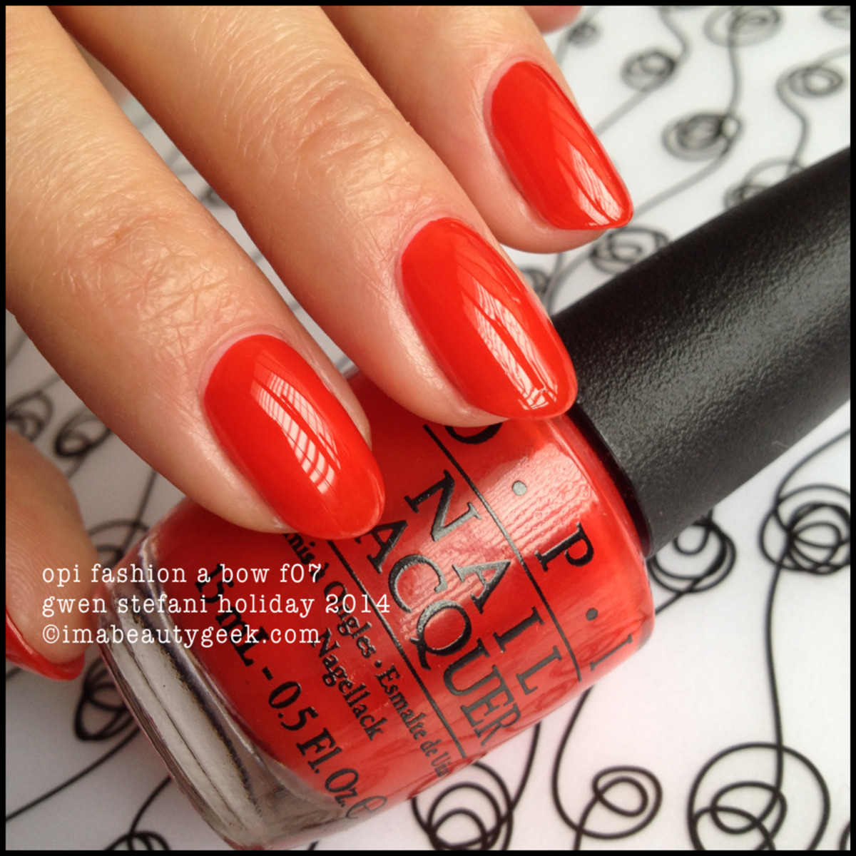 OPI Fashion a Bow Gwen Stefani Holiday 2014