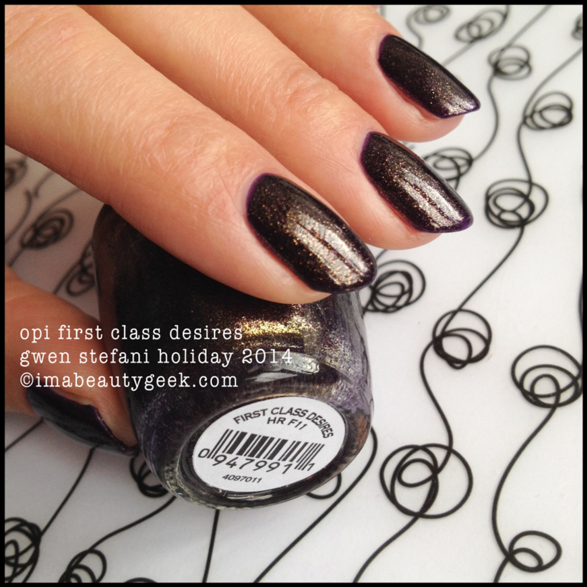 OPI First Class Desires Gwen Stefani Holiday 2014