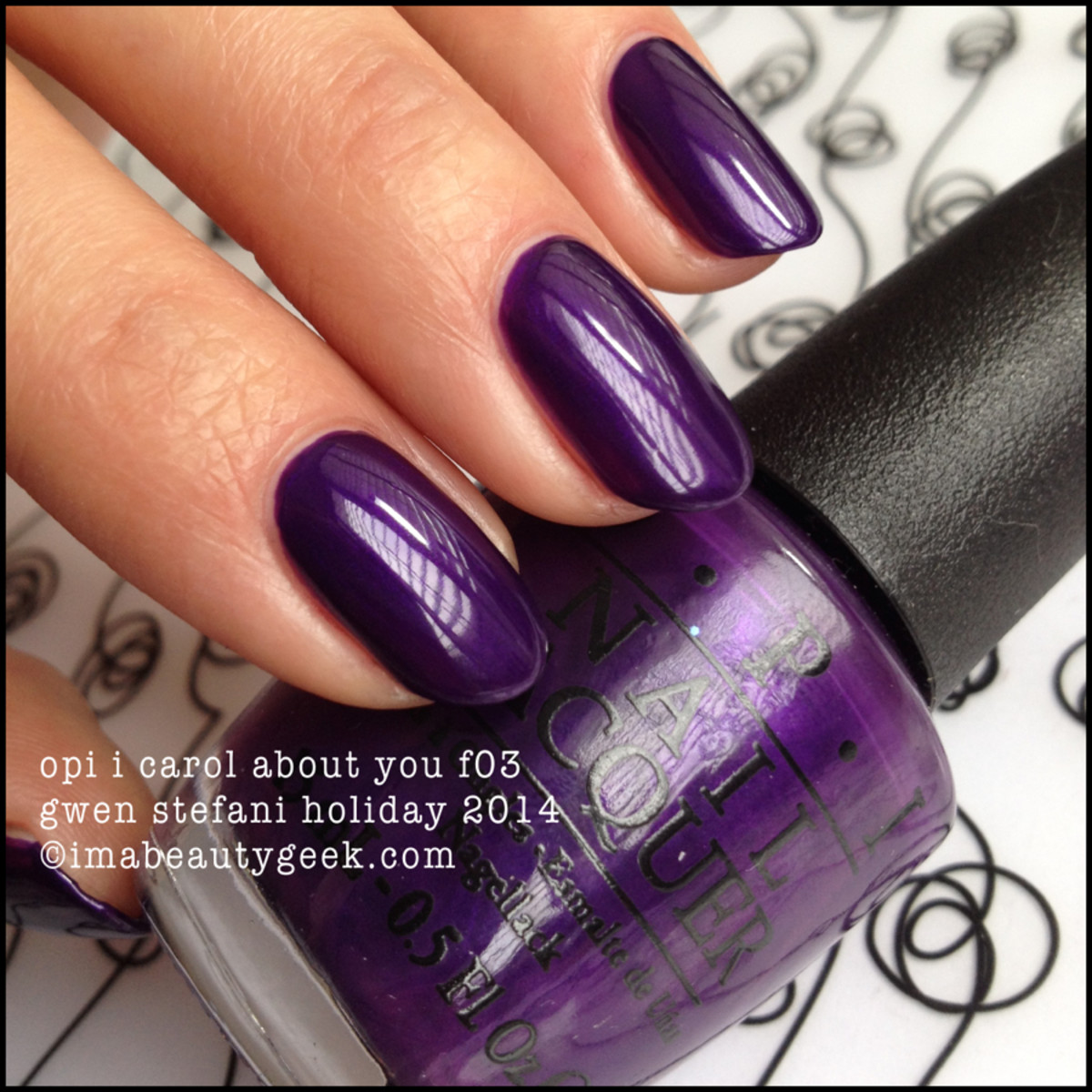 OPI I Carol About You Gwen f03 Gwen Stefani Holiday 2014