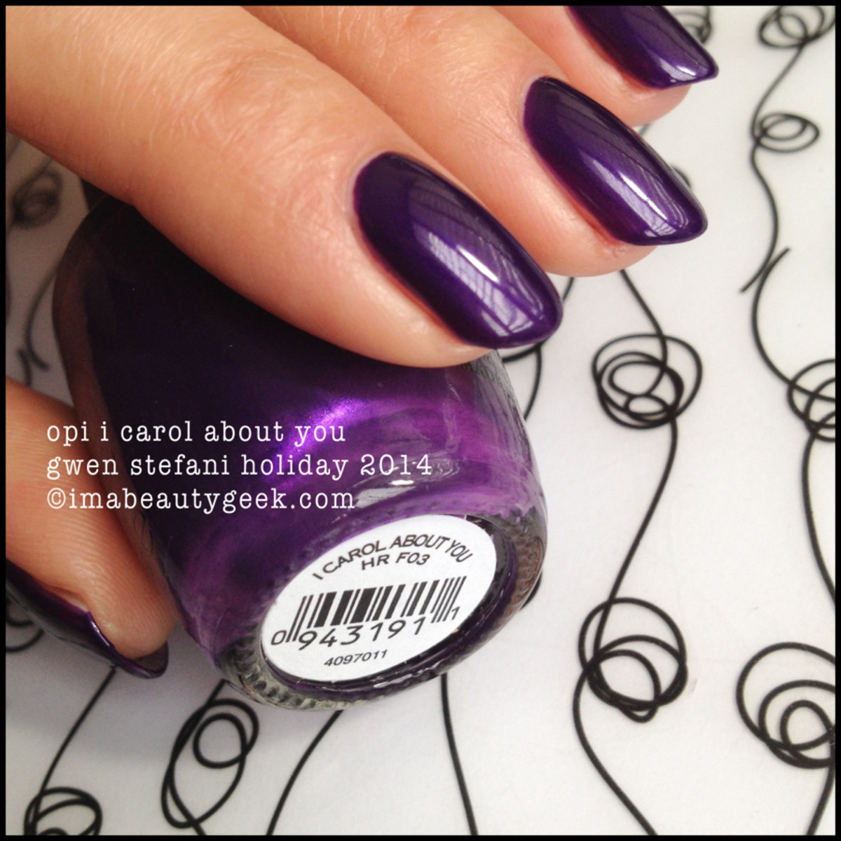 OPI I Carol About You f03 Gwen Stefani Holiday 2014