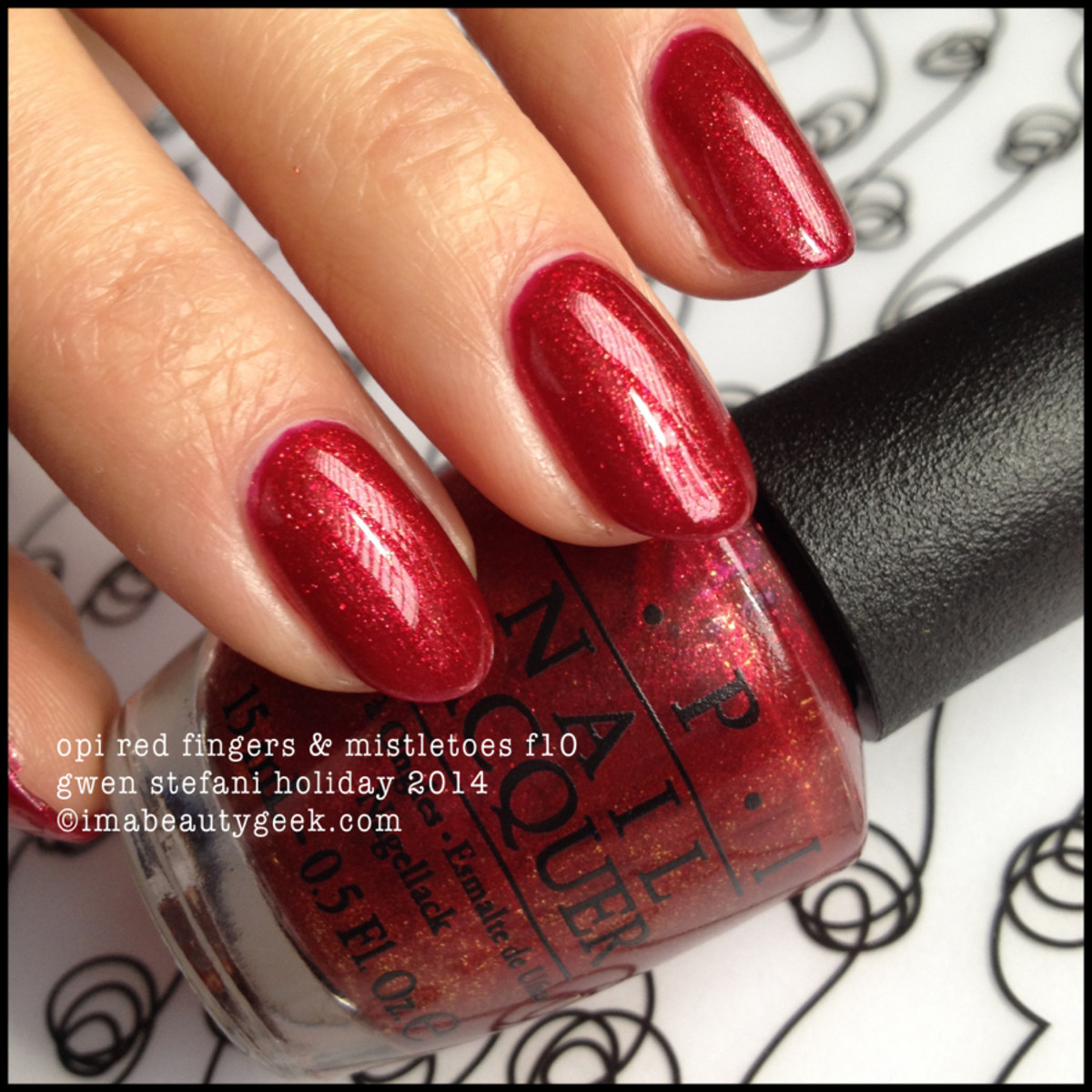 OPI Red Fingers and Mistletoes Gwen Stefani Holiday 2014