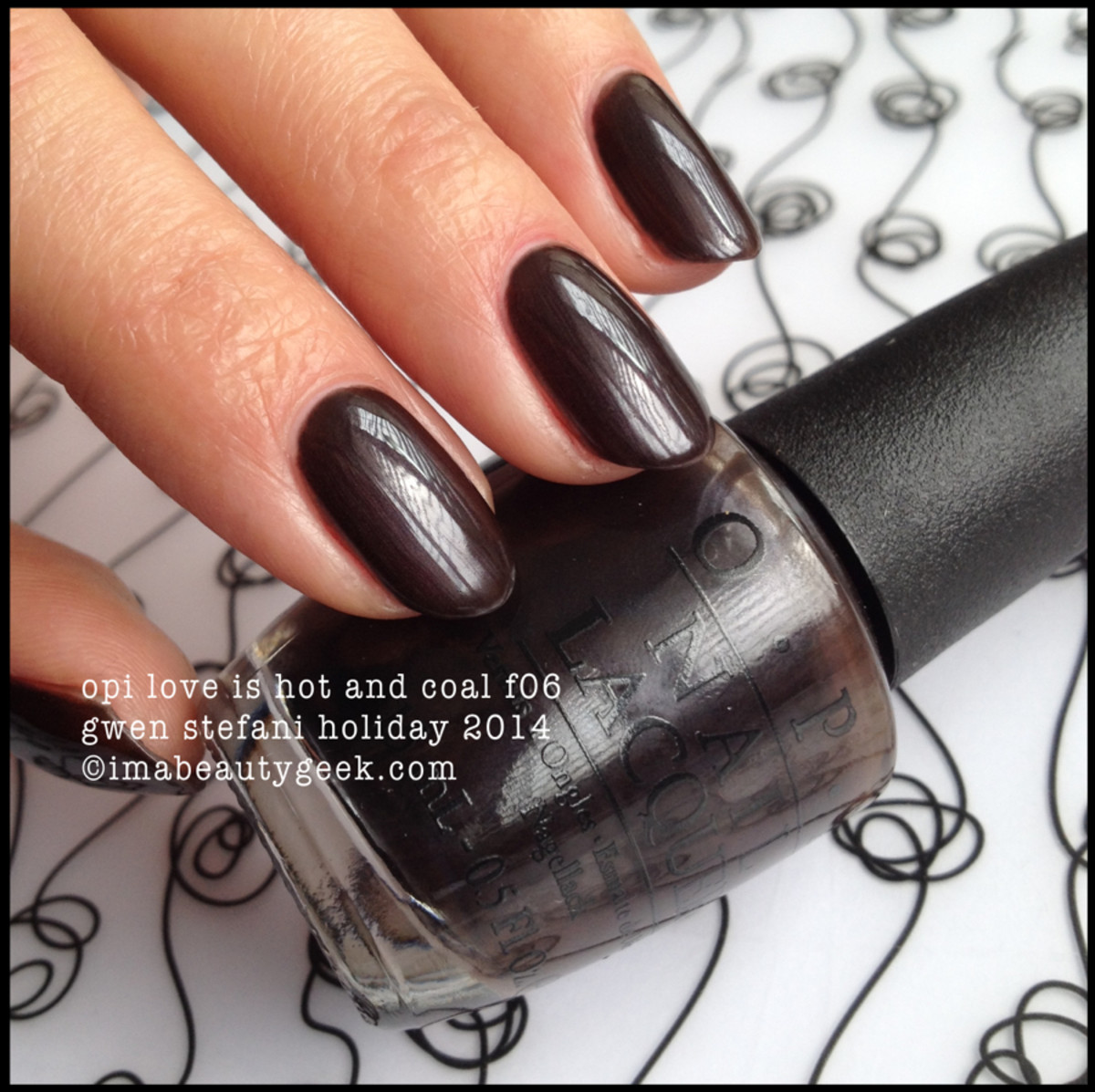 OPI Love is Hot and Coal Gwen Stefani Holiday 2014