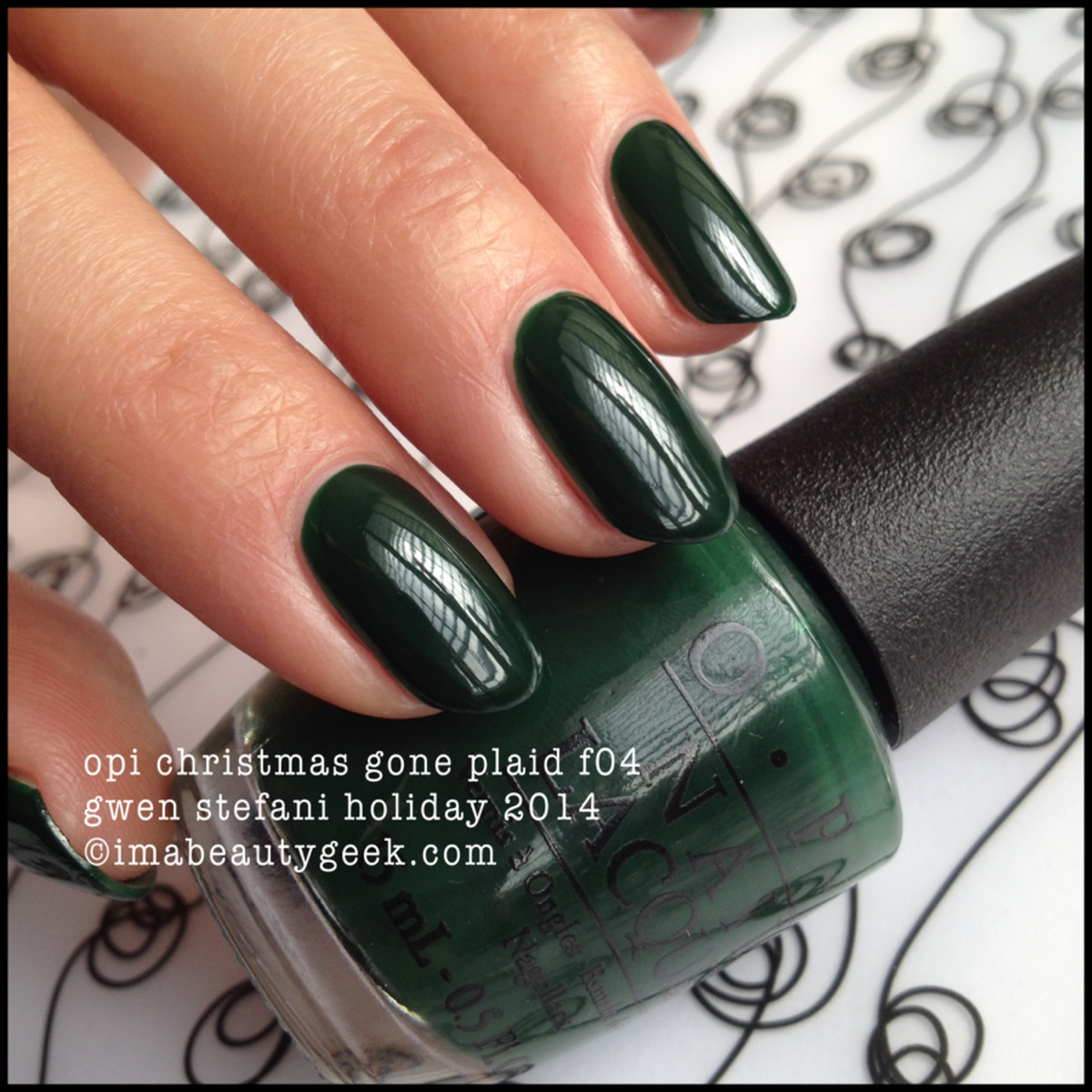 OPI Christmas Gone Plaid f04 Gwen Stefani Holiday 2014