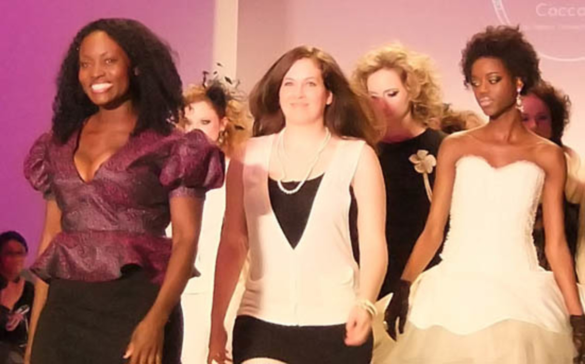 Coccolily's Naana Tennachie Yankey and asst designer Emmanuelle Blanchette and models