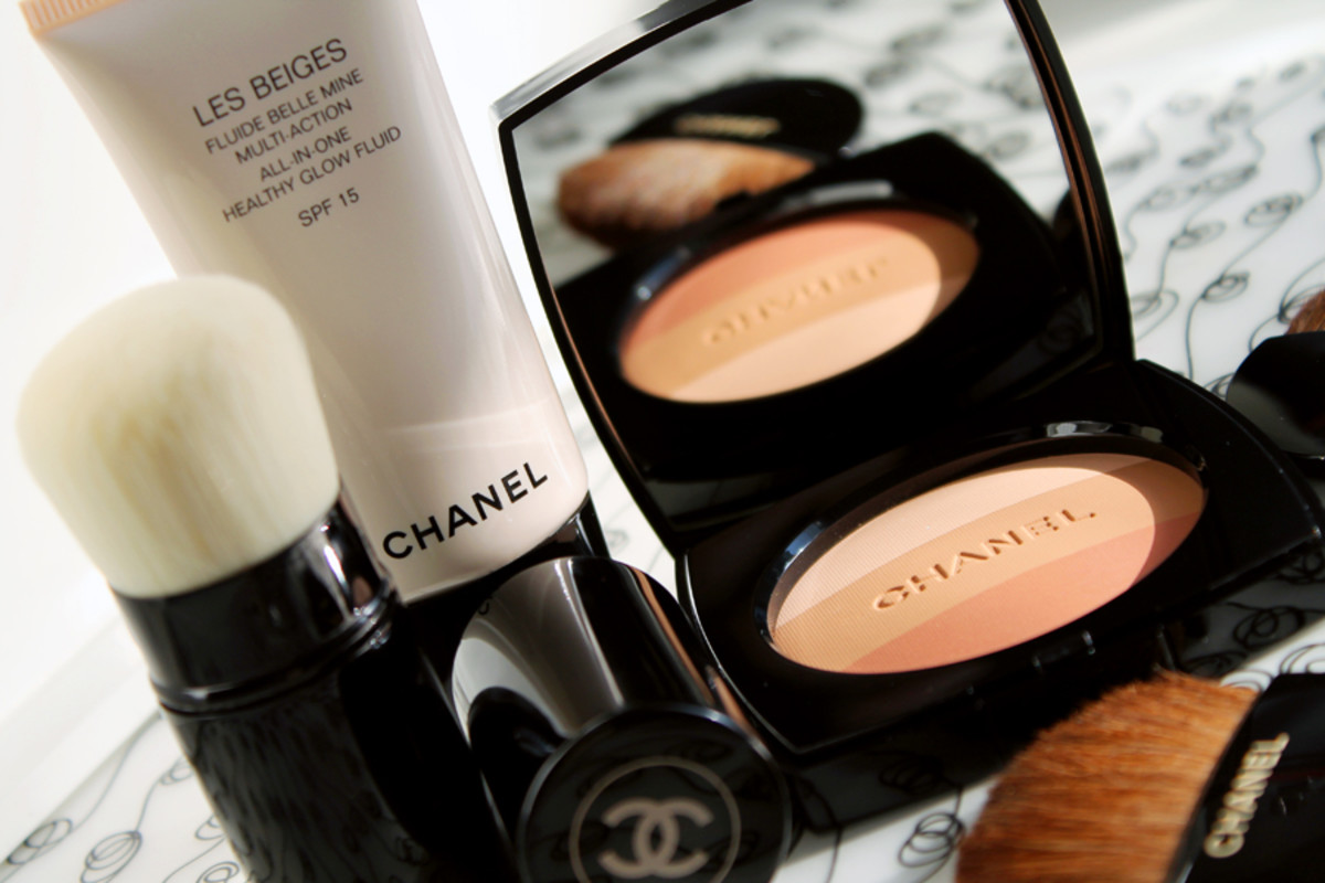 Chanel Summer_Chanel Les Beiges Healthy Glow Fluid_Powder_Kabuki