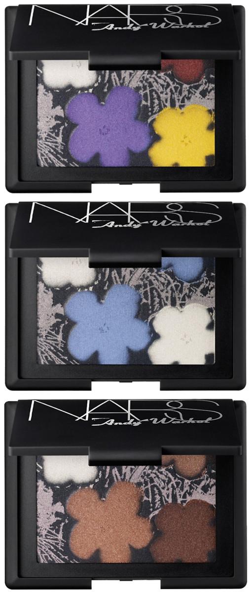 NARS Andy Warhol_Sephora_Eyeshadow Palettes in Flowers 1_Flowers 2_Flowers 3