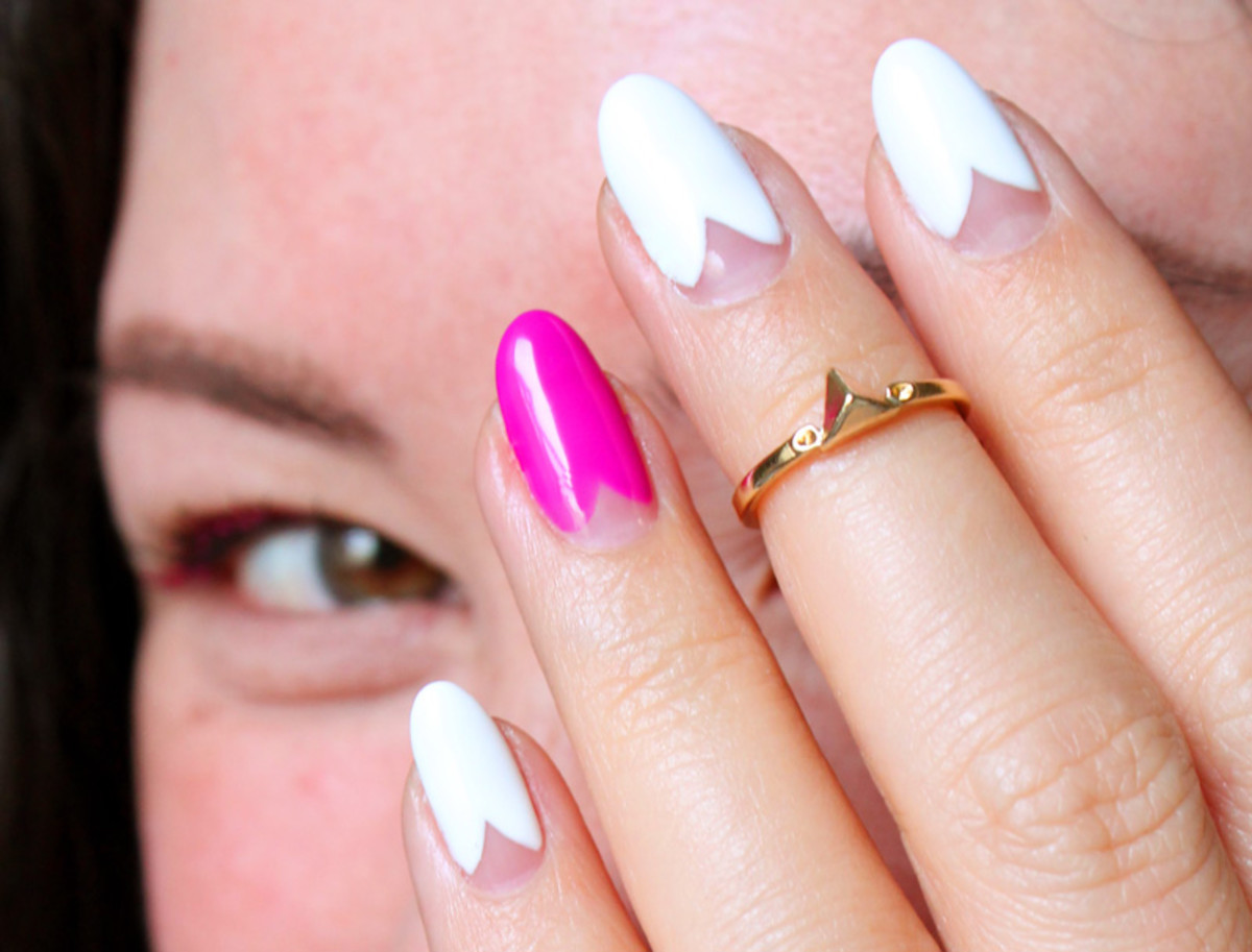nail trends scalloped mani by Leeanne Colley