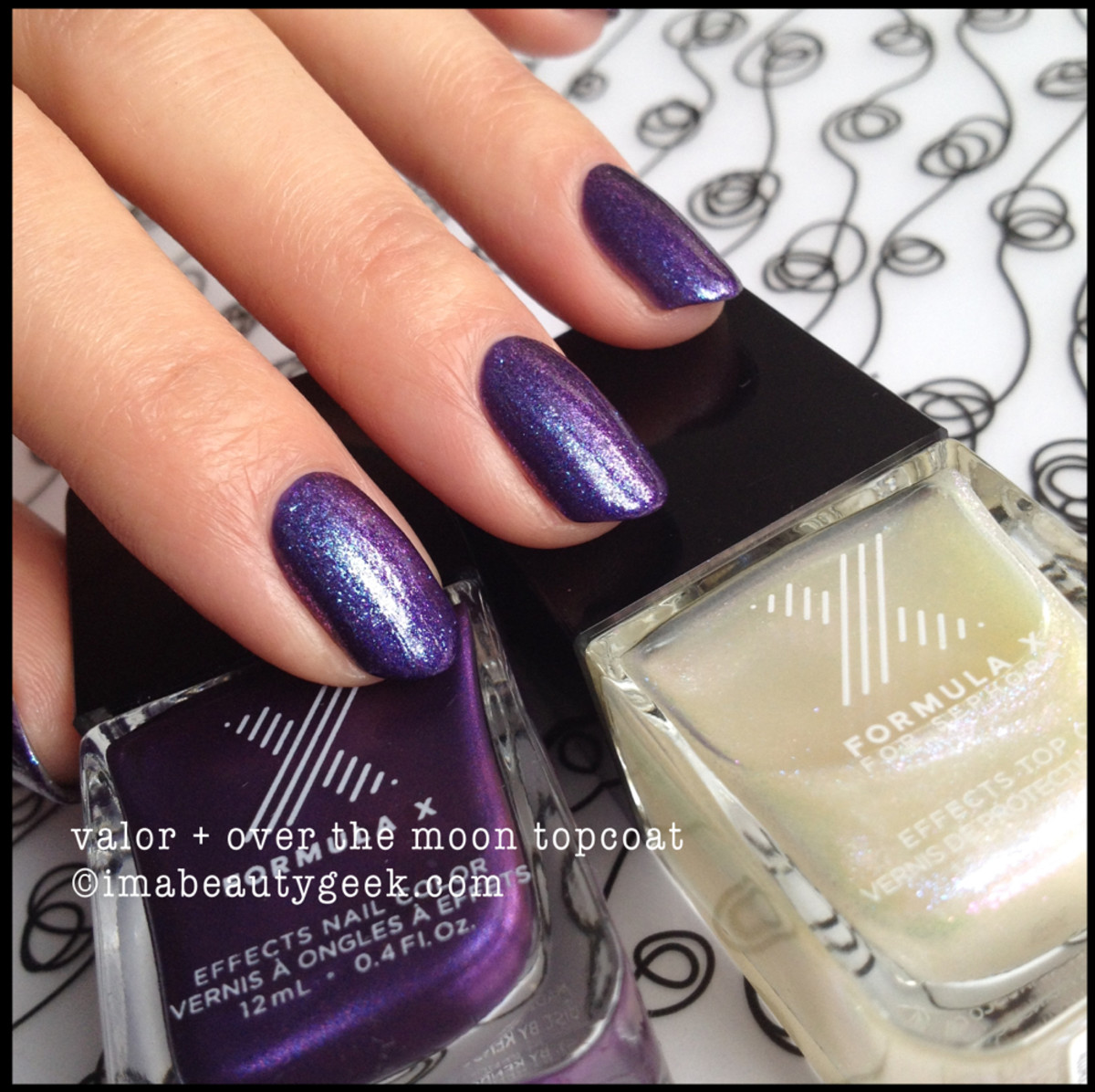 Formula X Valor w Over The Moon Topcoat Sephora Brushed Metallics 2014