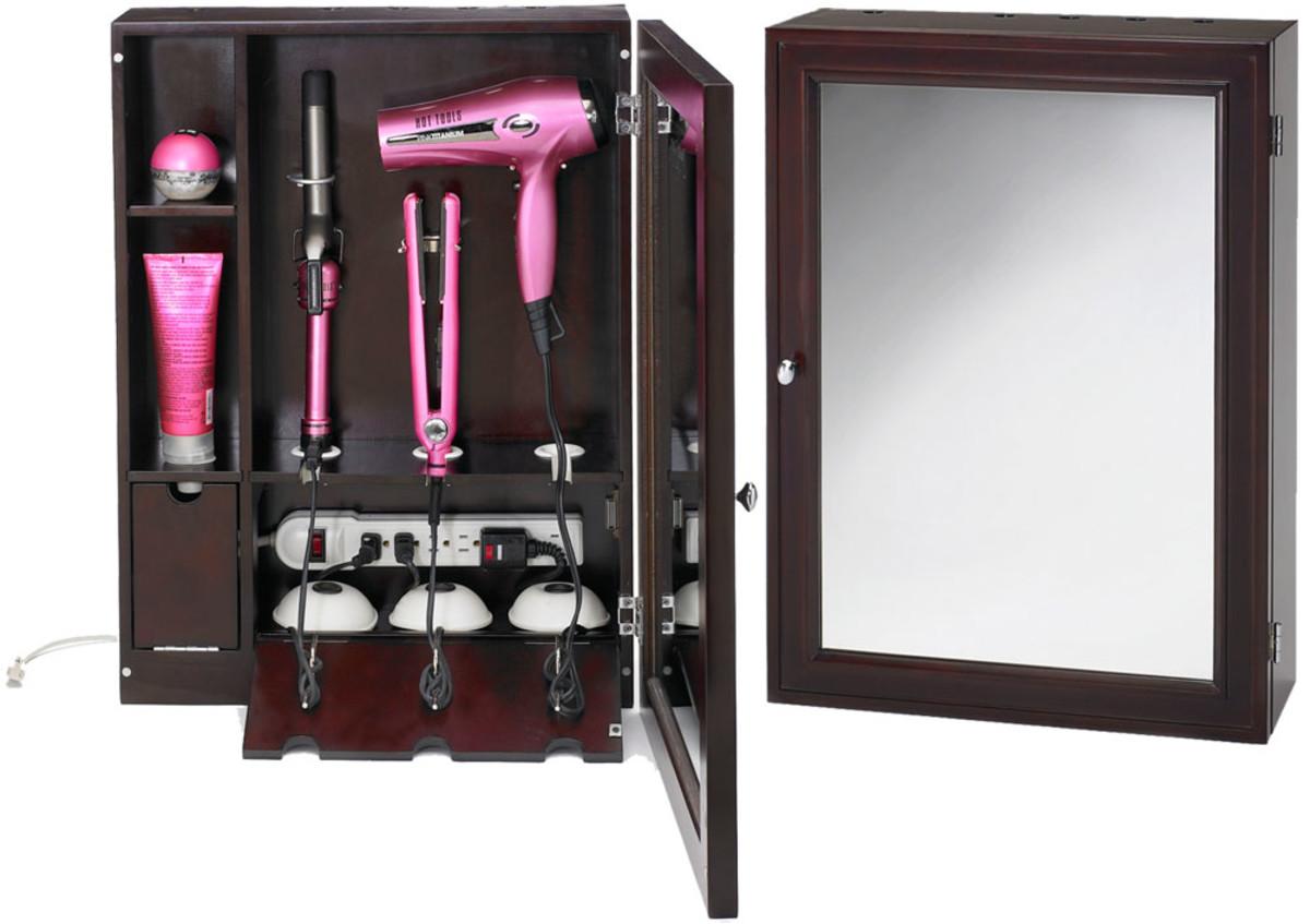 Style & Go Hair Care Valet bathroom hair-appliance cabinet