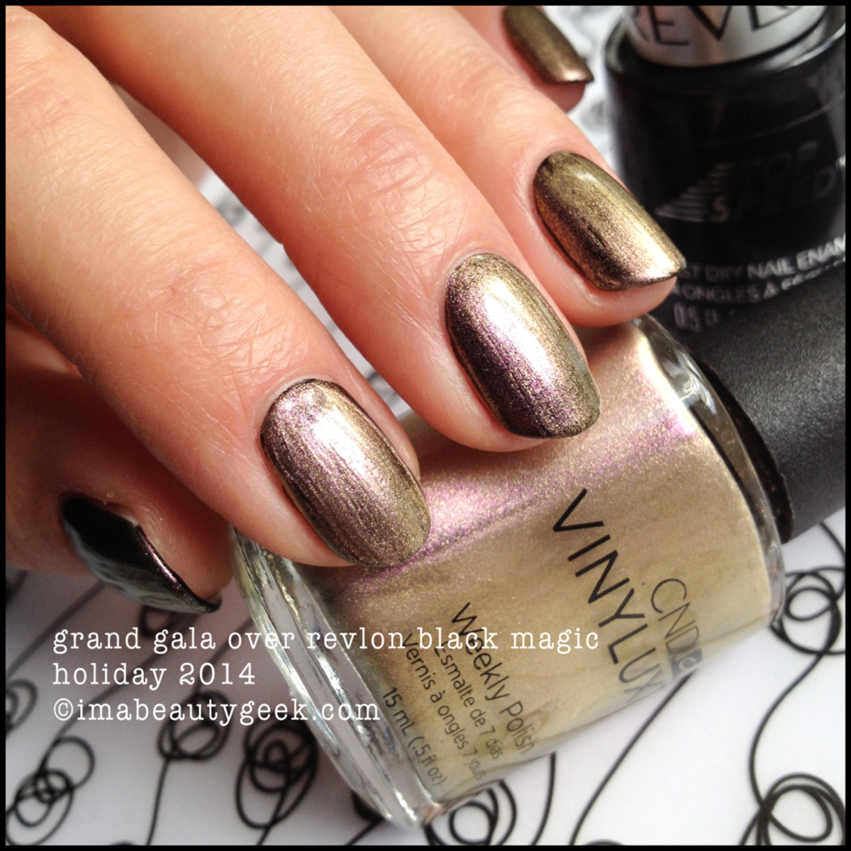 CND Vinylux Holiday 2014 Grand Gala over Black