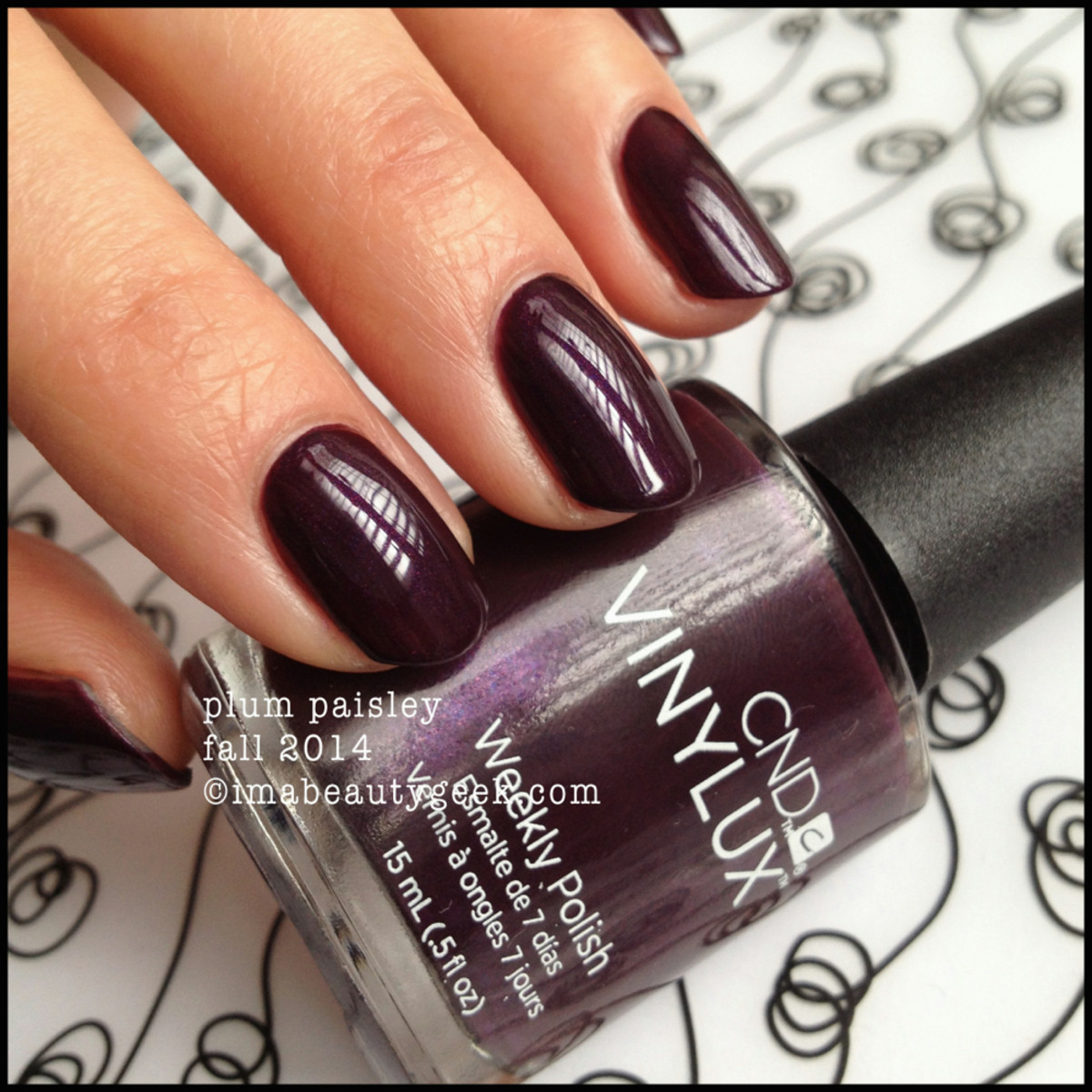 CND Vinylux Plum Paisley Modern Folklore Fall 2014