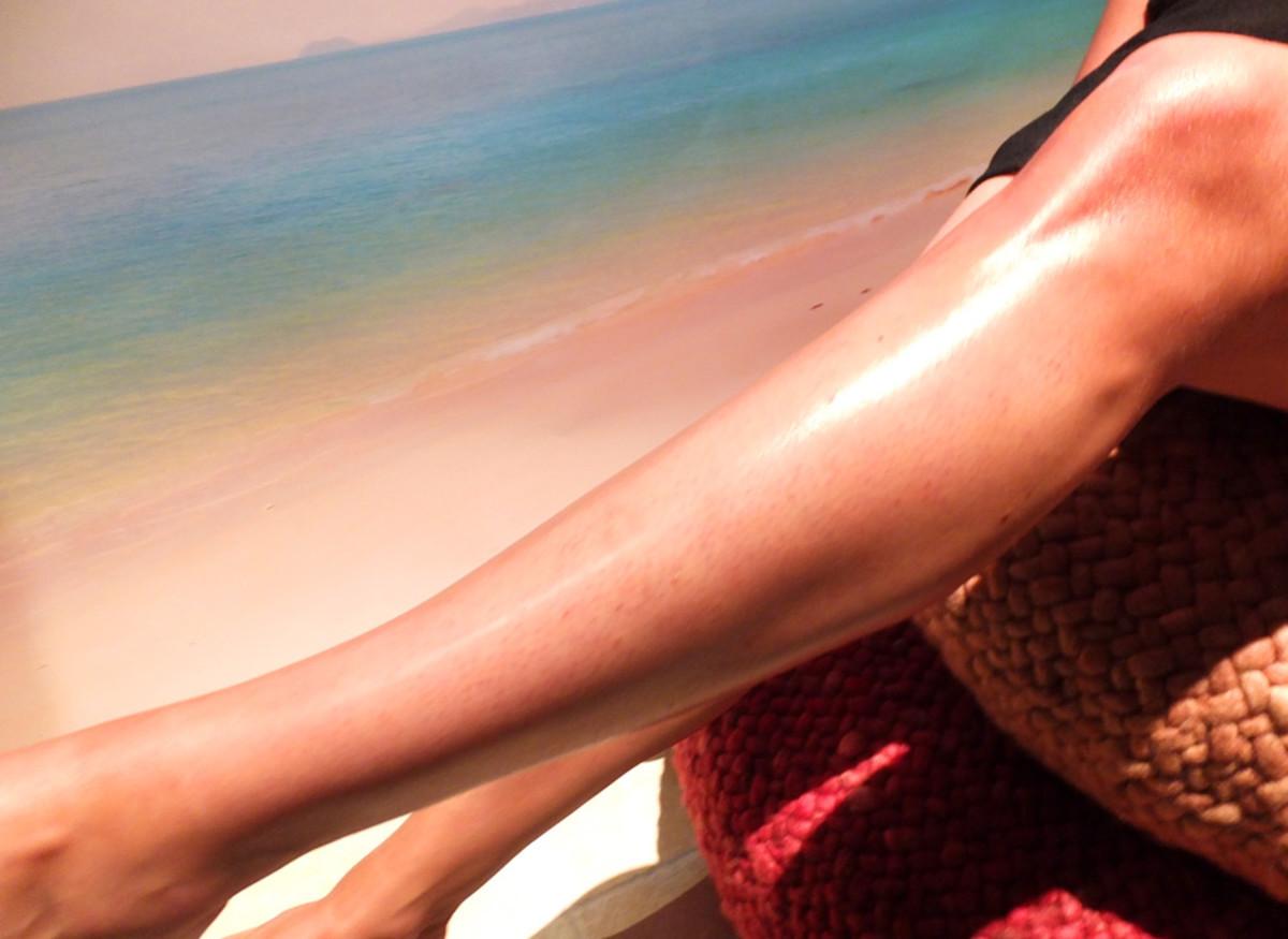Caudalie Divine Legs Tinted Body Lotion_on skin